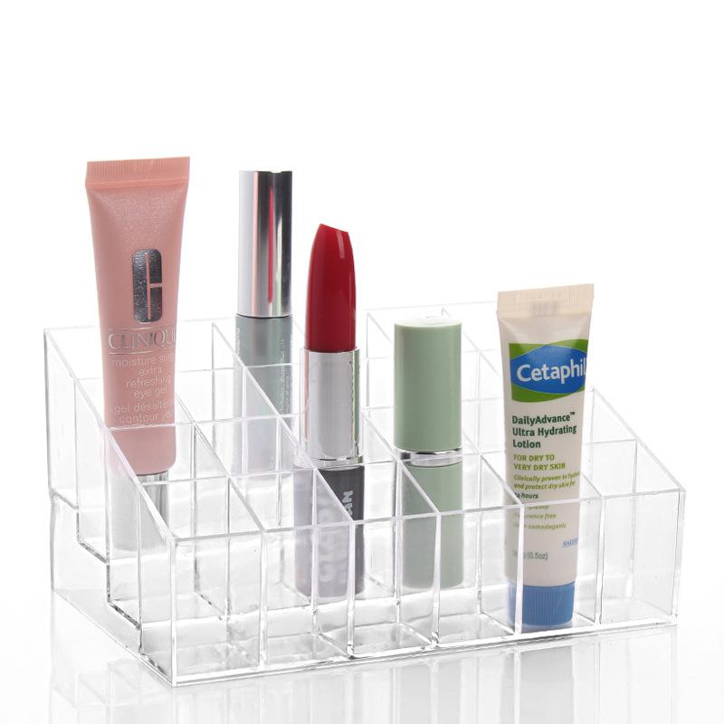 Bekas Simpanan Lipstik Holder Clear Acrylic Display Rak Alat Solek