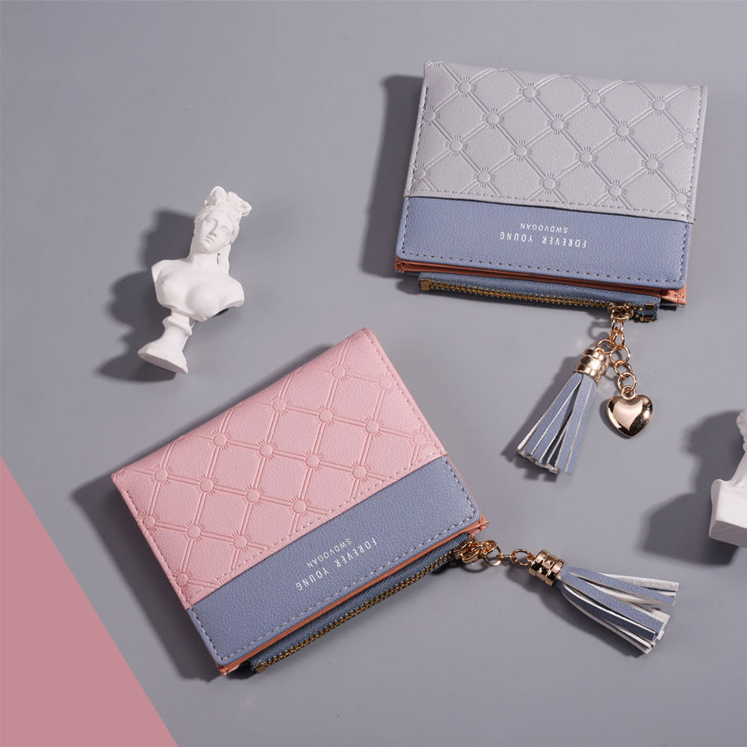 Wallet Mini Wanita Trendy Best Selling Dompet Petak Tali Tessel Eksklusif Multi Card Compartment Malaysia Online Shopping Fashion Boutique With